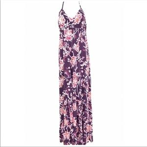 Express Maxi Dress Halter Hawaiian Floral Boho